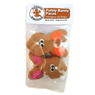 FUNNY BUNNY FACES GINGERBREAD