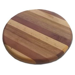 ROUND MIXED TIMBER CHEESE BOARD