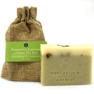 Peppermint Lavender Green Tea Soap